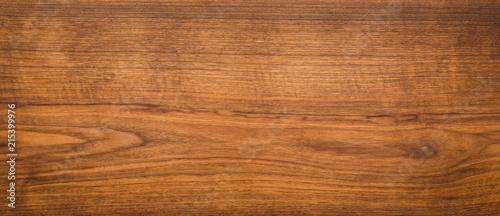 Poster Bois Walnut wood texture. Super long walnut planks texture background.