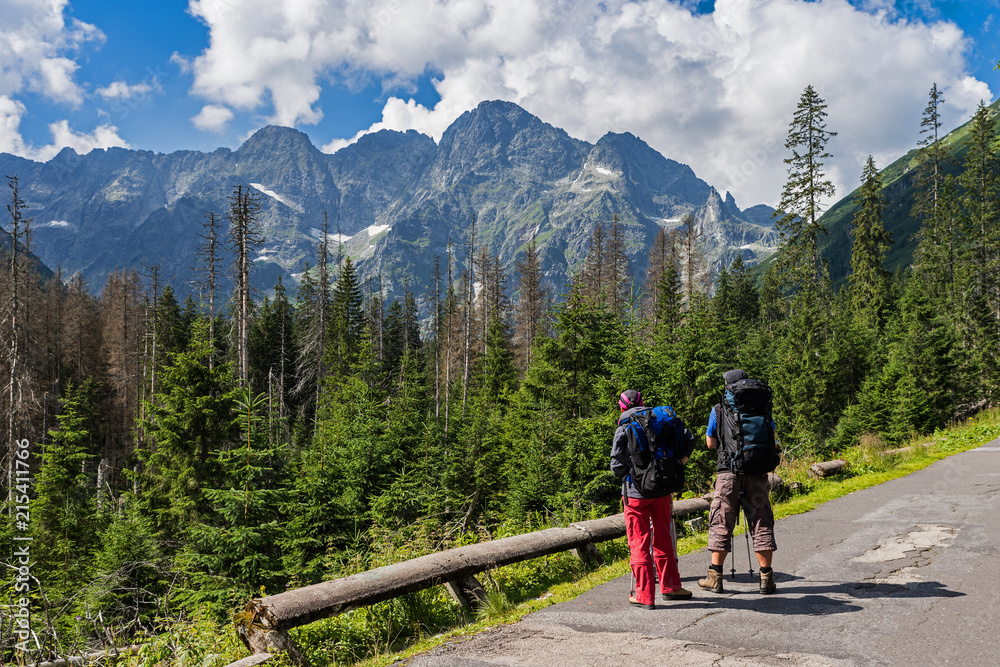 Fototapety, obrazy: Wanderer in der Hohen Tatra; Polen