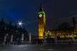 canvas print picture - Big Ben by night