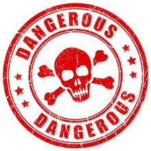 Dangerous Substances Red Vecto...