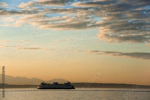 фотография Ferry Boat Crossing Elliott Bay from Seattle to Bainbridge Island