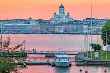 Sunset Over Helsinki And Valko...
