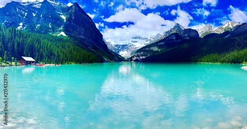 Papiers peints Turquoise Lac Louise - Alberta - Canada