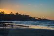 A Winter Sunset at La Jolla Cove, San Diego, California