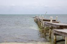 Destroyed Pier After Hurricane