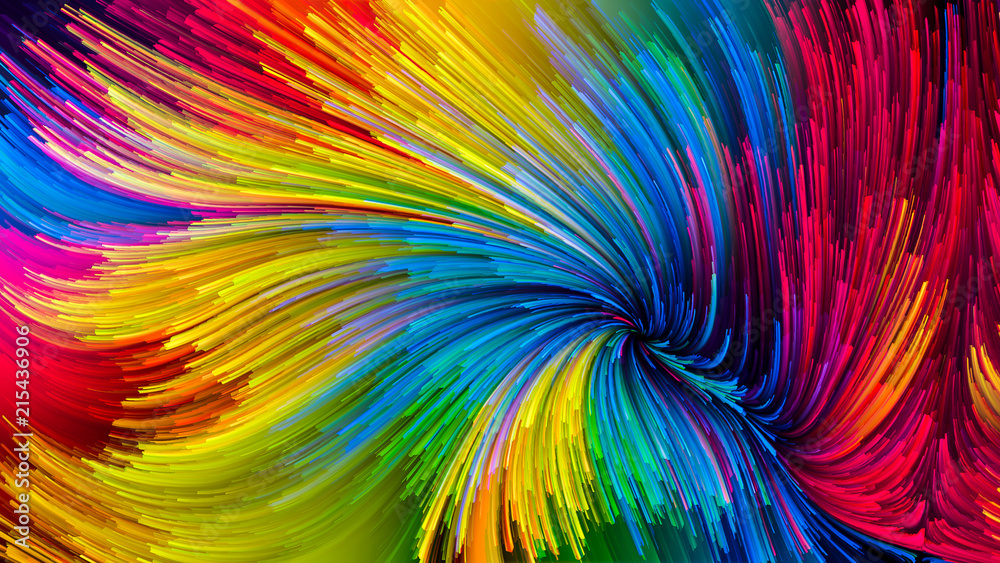 Fototapety, obrazy: Colorful Paint Design