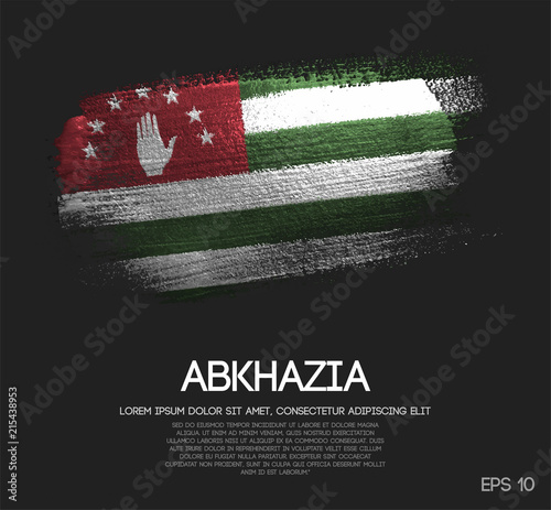 Abkhazia Flag Made of Glitter Sparkle Brush Paint Vector Canvas Print