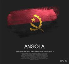 Angola Flag Made Of Glitter Sp...