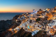Santorini Skyline Night