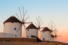 Mykonos Windmill Sunset