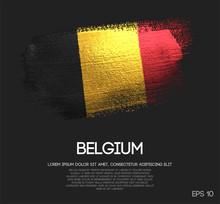 Belgium Flag Made Of Glitter S...
