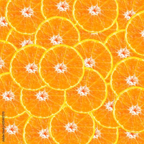 Foto op Aluminium Vruchten orange slice texture background close up