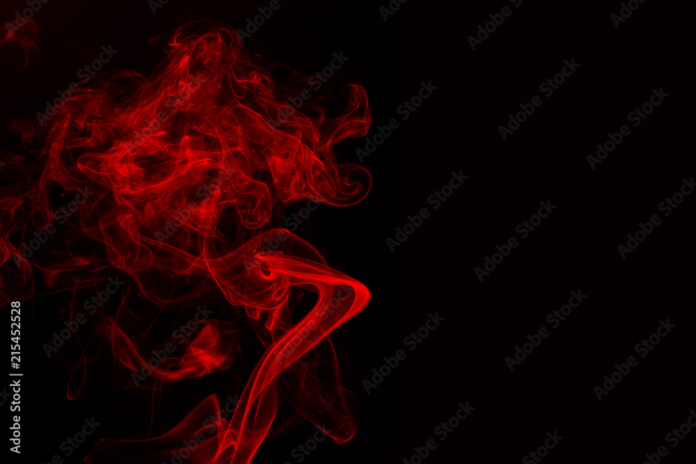 Fototapety, obrazy: abstract red smoke on black background. fire design