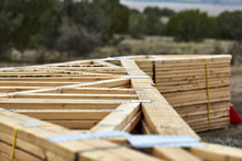 Stack Of Roofing Trusses