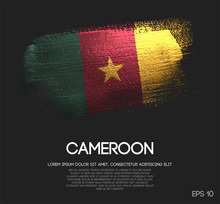 Cameroon Flag Made Of Glitter ...