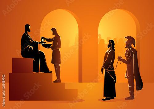 Obraz na płótnie Pilate condemns Jesus to die