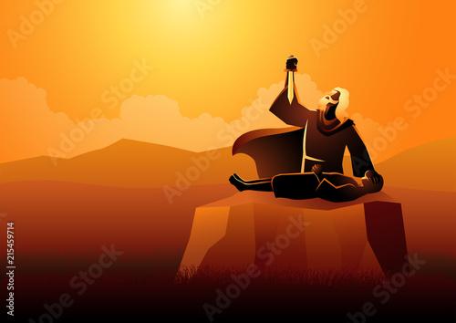 Fotografie, Obraz Abraham Sacrificing His Son