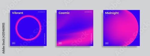 Obraz design template with vibrant gradient shapes - fototapety do salonu