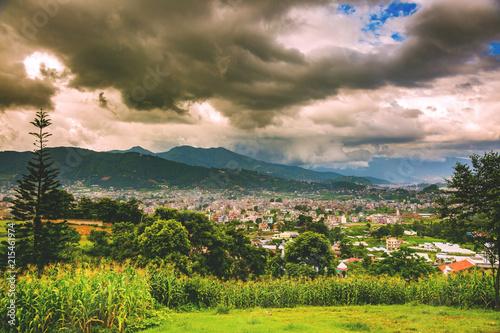 Photographie Aerial view of Kathmandu City Capital of Nepal,Bird Eye View Kat