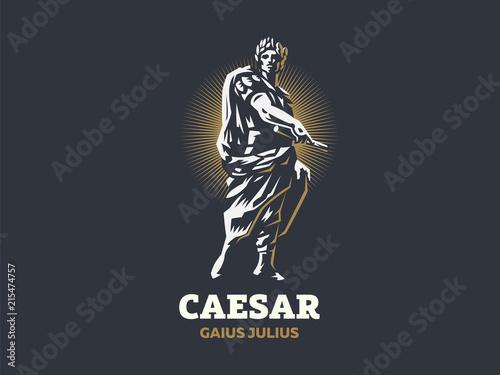 Fotografía  Caesar. Vector emblem.