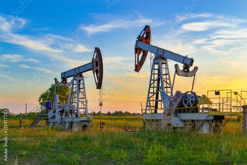 Fototapeta Oil pump. Oil industry equipment. obraz