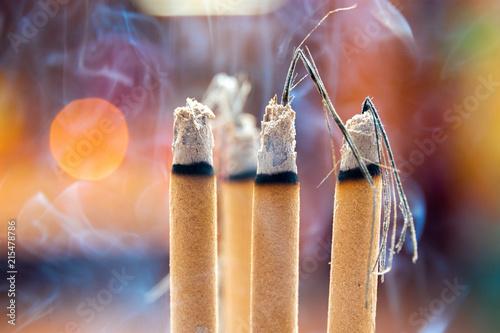 Photo Incense burning at a Taoist temple in Kuala Lumpur Malaysia