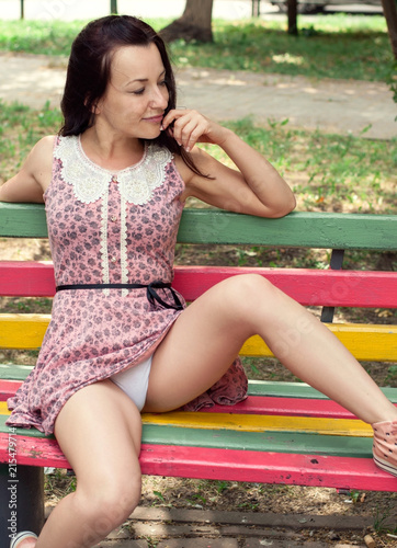 Women Sitting With Legs Open
