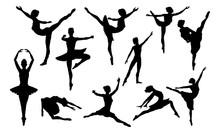 Ballet Dancing Silhouettes Set