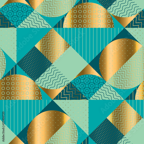Geometric luxury seamless pattern for background, wrapping paper, Wall mural