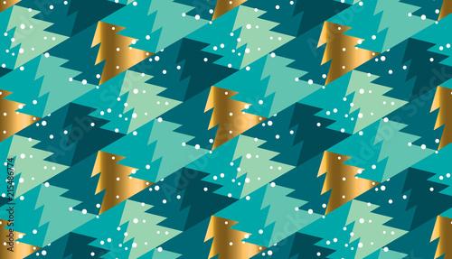 Stoffe zum Nähen Geometrische Xmas Tree nahtlose Muster für den Hintergrund