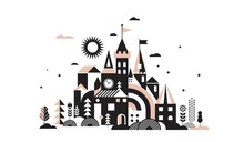 Geometric Fairy Tale Kingdom, ...