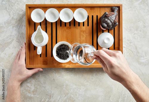Fotografía  Overhead view of tea ceremony