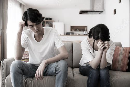 Fotografie, Obraz  落ち込むカップル
