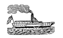 Vintage Tugboat Illustration