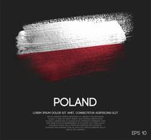 Poland Flag Made Of Glitter Sp...