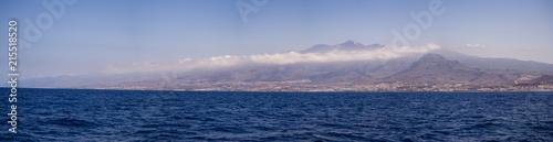 Foto op Plexiglas Nachtblauw Los Cristianos resort in Tenerife, Canary Islands, Spain