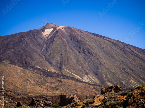 Mount Teide is the third highest volcanic structure and most voluminous in the world after Mauna Loa and Mauna Kea in Hawaii. It is the highest peak on the Canary Islands and in the whole of Spain.