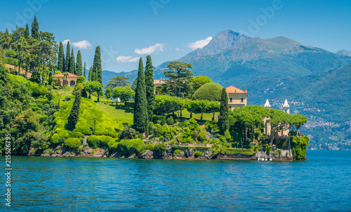 Villa del Balbianello, famous villa in the comune of Lenno, overlooking Lake Como Canvas Print