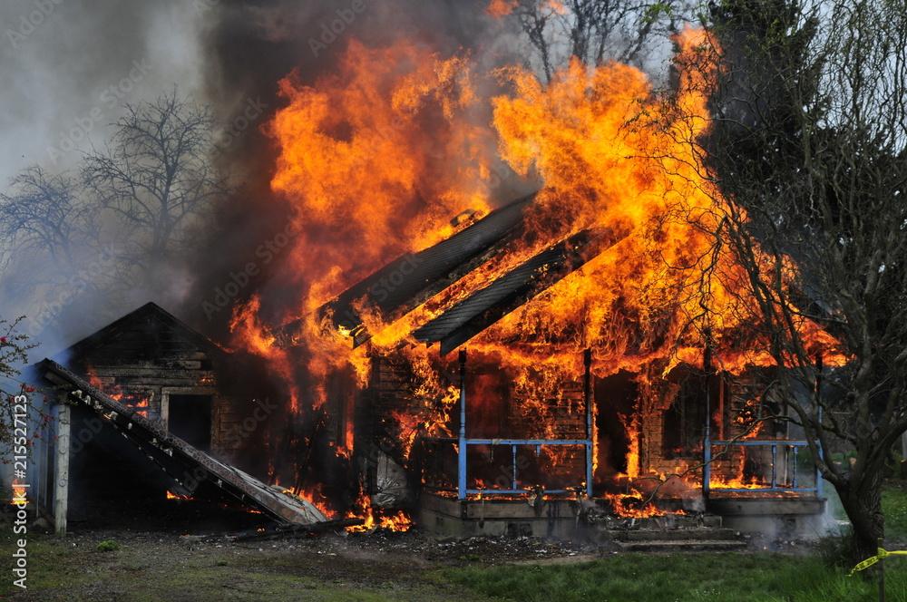 Fototapeta House Burning