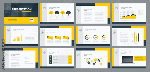 business presentation template design and page layout design for brochure ,annual report and company profile , with info graphic elements