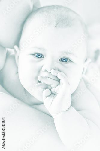 portrait of cute little baby Canvas Print