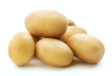 Heap Of Raw Potatoes Isolated ...
