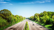 canvas print picture - Highway on sunny day