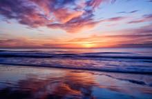 Long Exposure Sunrise In Myrtle Beach South Carolina