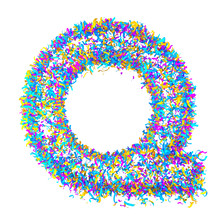 Festive Alphabet From Colorful...