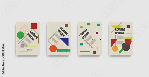 Valokuva  Bauhaus for report cover design