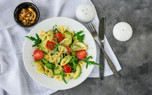 Pasta Salad With Avocado, Toma...