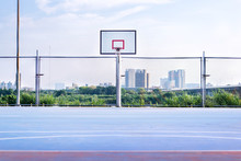 Basketball Court In Park In New Taipei City
