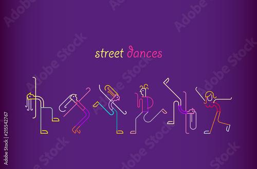 Staande foto Abstractie Art Street Dances