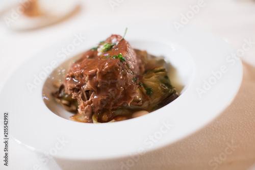 Poster Klaar gerecht Tender lamb dish